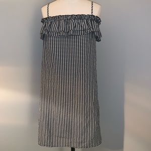 So cute - gingham off the should dress